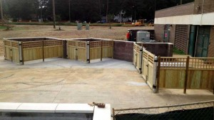 Commercial Wooden Fence Installation