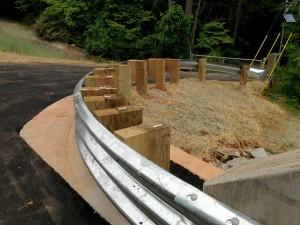 Curved Tri Beam Guardrail Installation