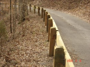 Timber Guardrail Installation
