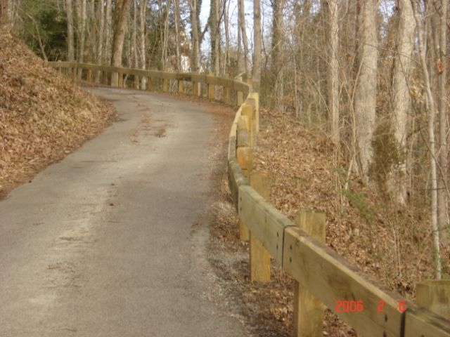 Timber Guardrail Installation   Bullington Construction Inc