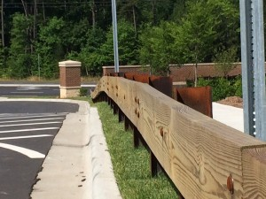 Steel Backed Timber Guardrail