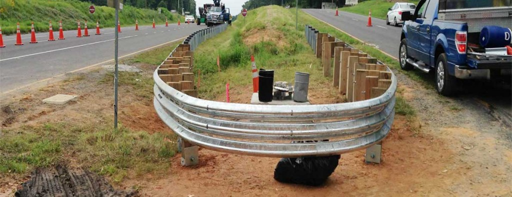 Guardrail Curved All The Way Around