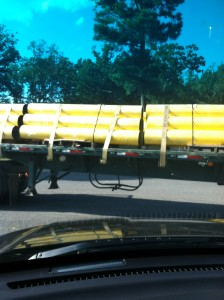 Truckload of Bollards