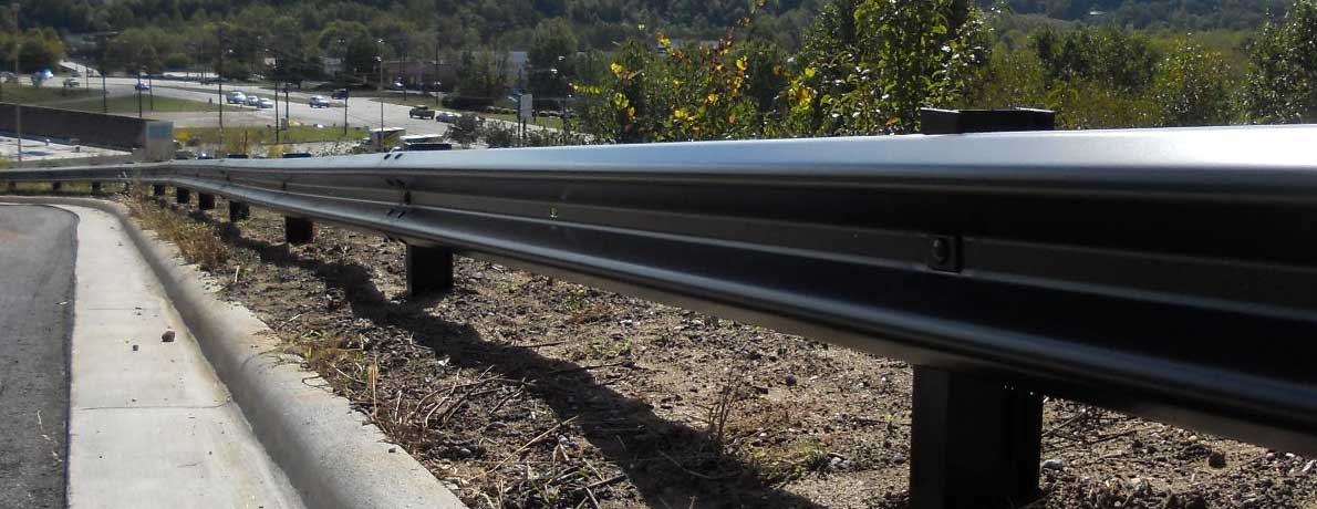 Guardrail in Mountains